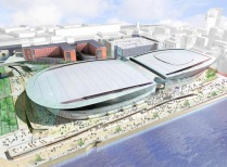 Artist's impression of completed arena